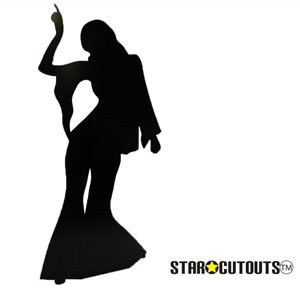 Manufactured by Star Cutouts Disco Dancer Female - Silhouette Lifesize Cardboard Cutout