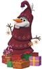 Star Cutouts Ltd SC1091 Christmas Olaf Frozen Adventure Large Christmas Decoration Cardboard Cutout Perfect for Parties, Fans and Events Height 164cm