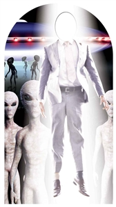 Alien Abduction Stand-in Lifesize Cardboard Cutout