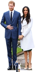 Star Cutouts Prince Harry & Meghan Markle Royal Wedding Couple Double Celebrity Cut Out.