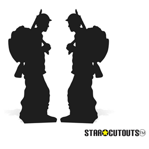 Star Cutouts Solider Silhouette Double Pack Lifesize Cardboard Cutout