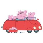 Star Cutouts Peppa Pig Family Car (Peppa Pig) Lifesized Cardboard Cutout