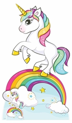 Star Cutouts Rainbow Unicorn Lifesized Cardboard Cutout