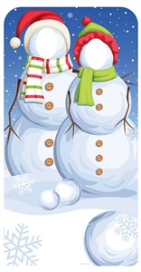 Star Cutouts Snowmen Stand-In Lifesize Christmas Cardboard Cutout