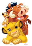 Star Cutouts Lion King Group (Simba, Timon and Pumbaa)
