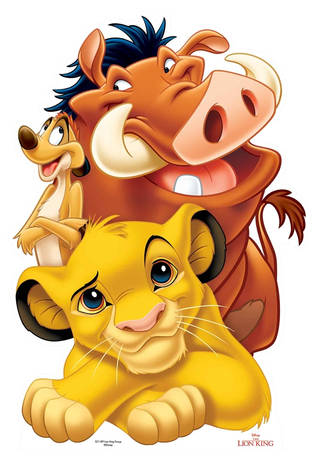 Star Cutouts Lion King Group Simba Timon And Pumbaa