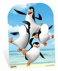 Star Cutouts Madagascar Penguins Child Size Stand In