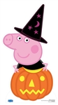 Star Cutouts Peppa Pig Pumpkin and Magical Hat  (Halloween)
