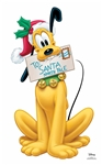 Star Cutouts Disney Christmas Pluto (Christmas Carol Letter to Santa) Star-Mini