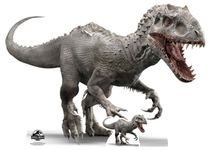 Lifesize Cut Out Official Jurassic World Indominus Rex Dinosaur (side view)