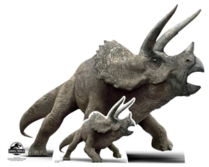 Lifesize Cut Out Official Jurassic World Triceratops Dinosaur