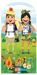 Star Cutouts Hiking Double Camp Site  Adult Stand-In Lifesize Cardboard