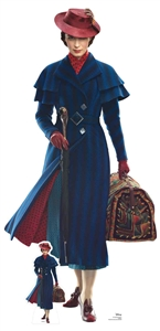 Star Cutouts Disney Mary Poppins Emily Blunt with Case and Umbrella