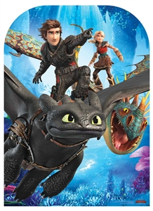 Star Cutouts How to Train Your Dragon 3 Stand-In Toothlless Hiccup Stormfly Nadder Astrid