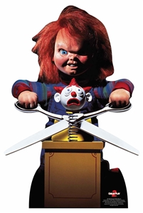 Star Cutouts Chucky Doll with Scissors Amzing Halloween Party Supplies