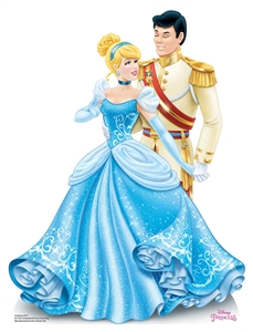 Star Cutouts SC1352 Disney Princess Cinderella and Prince Charming Mini Cardboard Cutouts Height 79cm Perfect for Wedding Tables, Parties and Events