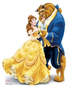 Star Cutouts SC1353 Disney Princess Belle Beauty and The Beast Mini Cardboard Cutouts Height 78cm Perfect for Wedding Tables, Parties and Events