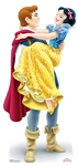 Star Cutouts SC1355 Disney Princess Snow White and The Prince Prince Florian Mini Cardboard Cutouts Height 90cm Perfect for Wedding Tables, Parties and Events
