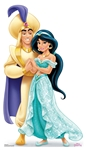 Star Cutouts SC1356 Princess Jasmine and Aladdin Mini Cardboard Cutouts Height 89cm Perfect for Wedding Tables, Parties and Events