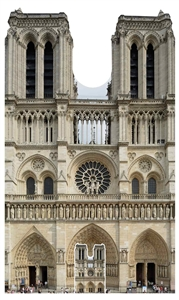 Star Cutouts Notre-Dame French Cathedral Large Cardboard Cutout
