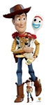 Star Cutouts Disney Official Disney Woody & Forky Toy Story 4 Lifesize Cardboard Cutout