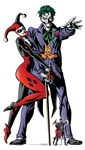 Star Cutouts Harley Quinn and The Joker Classic Comic Couple Double Cutout