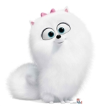 Gidget Fluffy Dog Secret Life of Pets Cutout