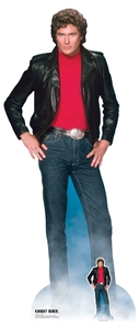 Star Cutouts Ltd SC1381 Michael Knight David Hasselhoff Knight Rider Lifesize Cardboard Cutout Perfect for 80's parties and Fans Height 190cm