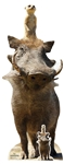 Star Cutouts Timon and Pumbaa Lion King Live Action Cardboard Standee