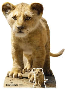 Simba (Young) Lion King Live Action Star-Mini Cardboard Cutout