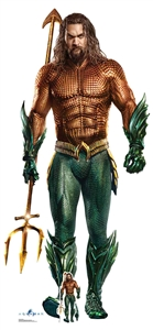 Star Cutouts Ltd SC1397 Aquaman Jason Momoa Lifesize Cardboard Cutout Brilliant for Super Hero Events, Gifting and Parties Height 194cm