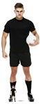 SC1399	Rugby Player In Black Lifesize Cardboard Cutout