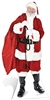 Star Cutouts Ltd SC14  Santa with Sack of Toys Christmas Cardboard Cutout Perfect for Office Christmas Props, Parties and Events Height 180cm