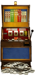 Star Cutouts Ltd SC140 Fruit Machine (One Armed Bandit) Cardboard Cutout Perfect for Casino Style Parties, themed events, weddings and displays Height 186cm