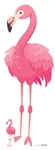 Star Cutouts Ltd SC1401 Pink Flamingo Large Fun Cardboard Cutout Perfect for Summer Parties, Flamingo Decorations, Hawaiian Summer Beach, Luau Party Supplies, Shop Window, Gifting, Weddings and Events Height 150cm 4ft 11in with free table top cutout