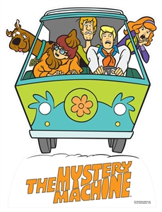 Star Ciutouts SC1404 Fred's Mystery Machine Van Scooby Doo Star Mini Van Height 93cm Great for childrens theme parties