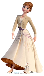 SC1418 Star Cutouts Ltd  Anna Cream Dress Frozen 2 Perfect for Frozen Fans, Parties and Events Height 164cm Width 94cm