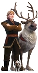 SC1423 Star Cutouts Ltd Kristoff and Sven Lifesize Cardboard Cutout Perfect for Frozen Fans, Parties and Events Height 195cm Width 101cm