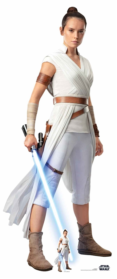 The Last Jedi Lifesize Cardboard Cut Out STAR CUTOUTS Official Star Wars Rey Lightsaber
