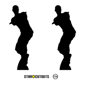 Manufactured by Star Cutouts SC1437 Dancing Gamer Silhouette Large Fun Double Cardboard Cutout Perfect for Birthday Party Supplies for Game Fans, Gifting, Weddings and Gaming Events Height 172cm 5ft 7in with free table top cutout
