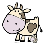 Star Cutouts Ltd SC1442 Cute Cow Cardboard Cut Out Perfect for Parties, Events, Table Decorations and Birthdays