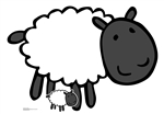 Star Cutouts Ltd  SC1443 Cute Sheep Farmyard Animal Cardboard Cut Out Perfect for Parties, Events, Table Decorations and Birthdays