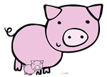 Star Cutouts Ltd SC1444 Cute Pig Farmyard Animal Cardboard Cut Out Perfect for Parties, Events, Table Decorations and Birthdays