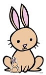 Star Cutouts Ltd SC1446 Cute Rabbit Farm Animal Cardboard Cut Out Perfect for Parties, Events, Table Decorations and Birthdays