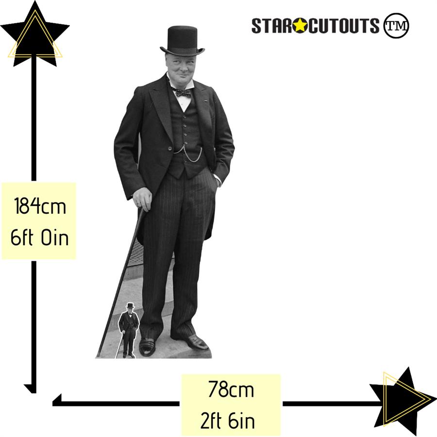 Star Cutouts Cut Out of Winston Churchill