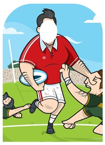 Star Cutouts SC1452 Rugby Superstar Child Size Stand In Cardboard Standee Perfect for Fans, Shows, Events , Parties and Collectors Height 130cm