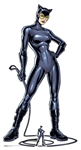 SC1456 Star Cutouts Catwoman with Whip Lifesize Cardboard Cutout with Free Mini Cutout Height 179cm
