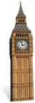Star Cutouts Big Ben Clock