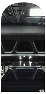 Star Cutouts SC1461 Star Destroyer Bridge Star Wars Galaxy Backdrop Feature Perfect for Fans of the Dark Side Height 184cm Width 90cm