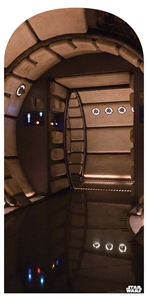 Star Cutouts SC1462 Millennium Falcon Corridor Star Wars Party Decoration Perfect Room Décor Height 184cm Width 94cm